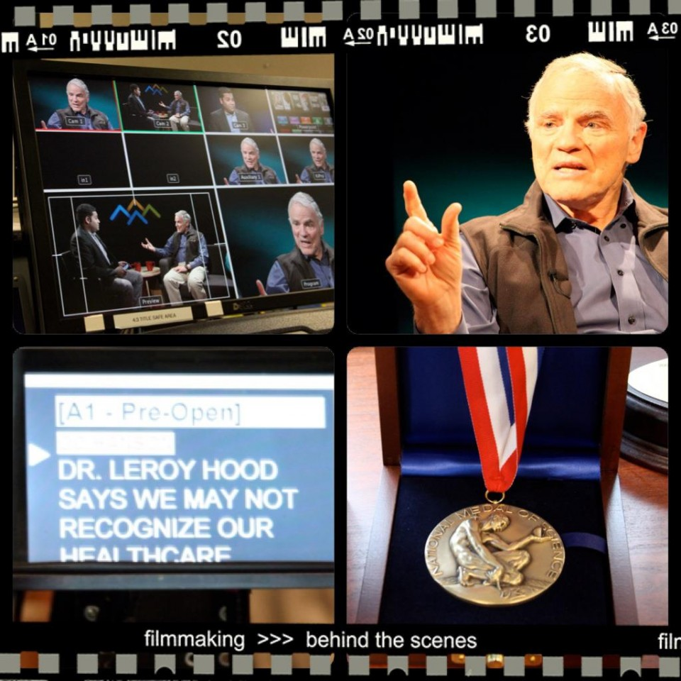 """Dr. Lee Hood is a guest on """"Four Peaks"""" is a monthly current affairs show on UWTV and Northwest Cable News."""