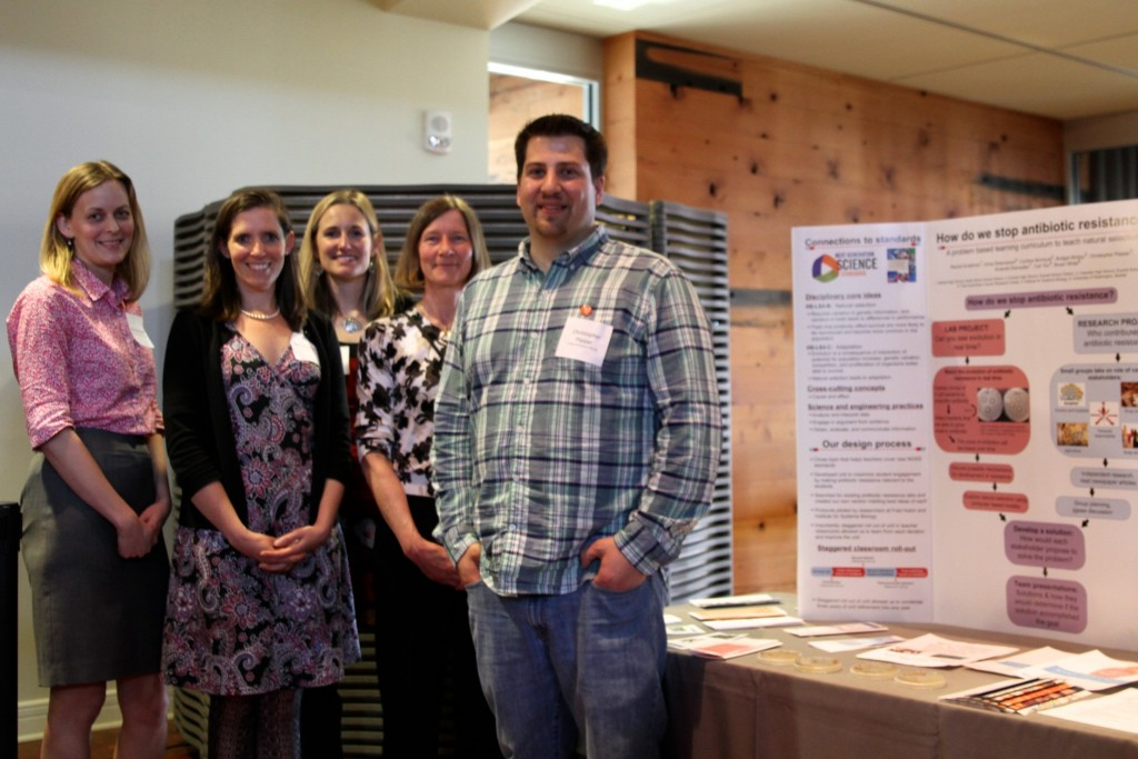 ISB K-12 STEM Education - From left to right: Anna Greenwood, Fred Hutchinson Cancer Research Center; Rachel Endelman, Bothell High School; Amanda Rainwater, Bothell High School; Cynthia McIntyre, Everett High School; Chris Plaisier, Institute for Systems Biology.